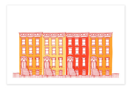 Houses in a row (orange)